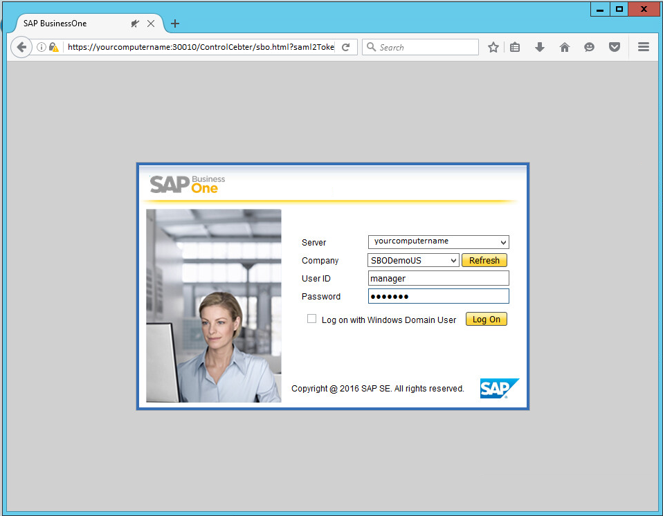 SAP Business One Browser Access Installation 9 3 - DreamTeam