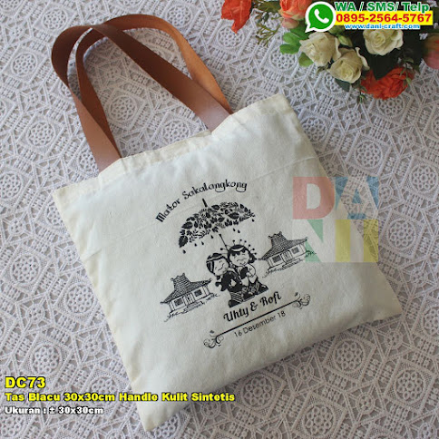 Tas Blacu 30x30cm Handle Kulit Sintetis