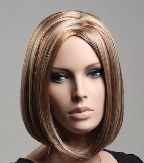 Bayan karamel renkli küt saç peruk