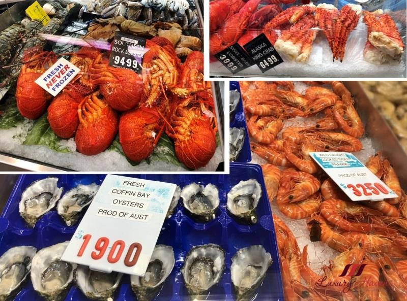australian seafood queen victoria market rock lobsters crayfish