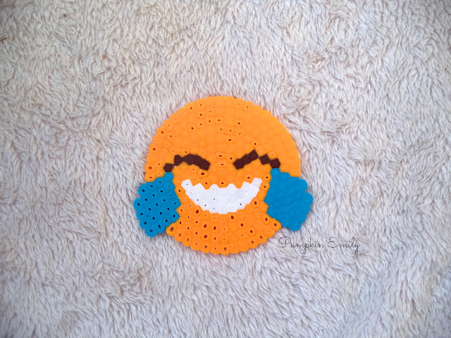DIY Emoji Coaster Made Out of Perler Beads