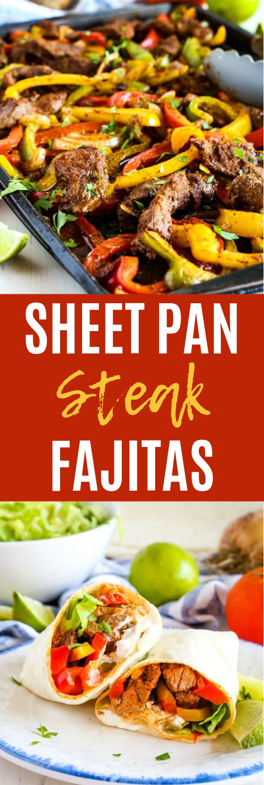 Sheet Pan Steak Fajitas #lowcarb #paleo