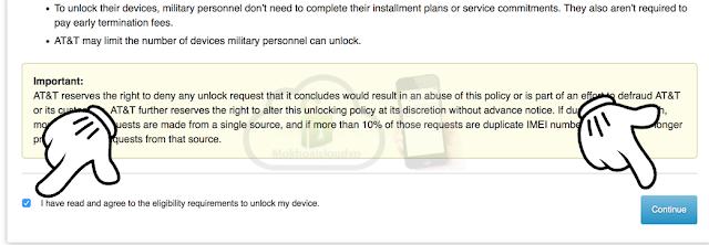 Truy cập vào https://www.att.com/deviceunlock