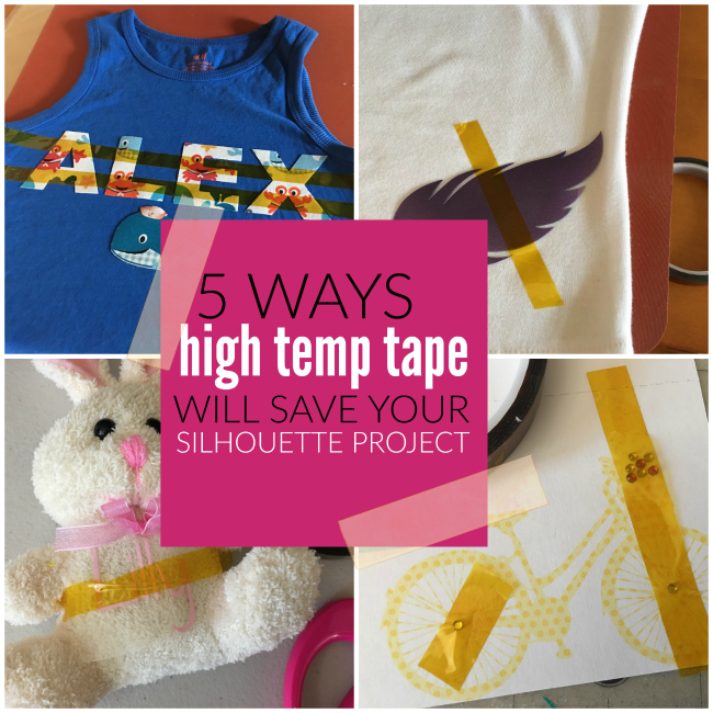how to use High Heat Tape  Silhouette CAMEO projects