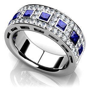 Jewelry Trends Anjolee Diamond and Sapphire Ring