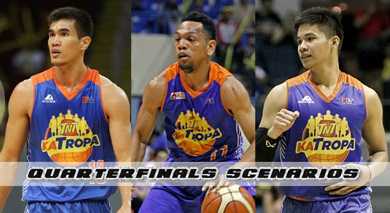 List of Scenarios for TNT Katropa to be able to enter the Quarterfinals