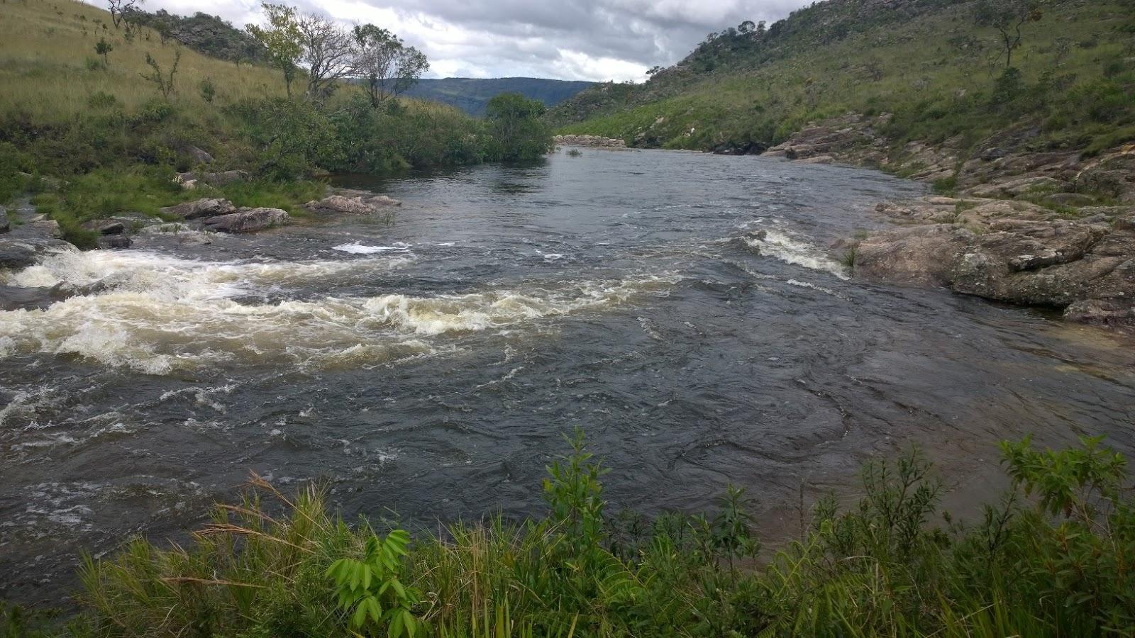 Rio São Francisco antes da Casca D'Anta - Parque Nacional da Serra da Canastra-MG