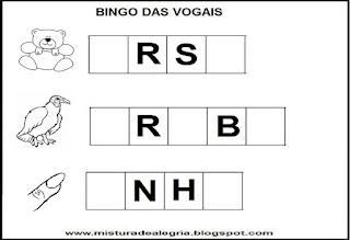 Bingo com as vogais