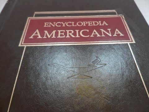 Capa da Enciclopédia Americana de 1958