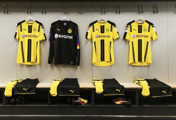 Camisas de Futebol  Novas camisas do Borussia Dortmund para a ... fb9cad204625c