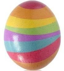 Foto del huevo de colores