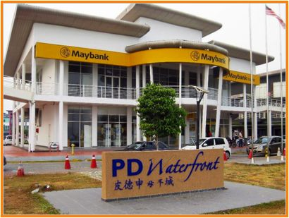 Gambar Maybank cawangan Port Dickson, Negeri Sembilan, Malaysia di PD Waterfront.