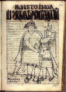 Inca Roca, sexto inca, dibujo de Felipe Guamán Poma de Ayala