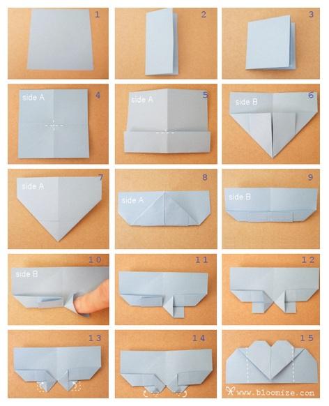 lolita goes bad origami herzchen lesezeichen. Black Bedroom Furniture Sets. Home Design Ideas