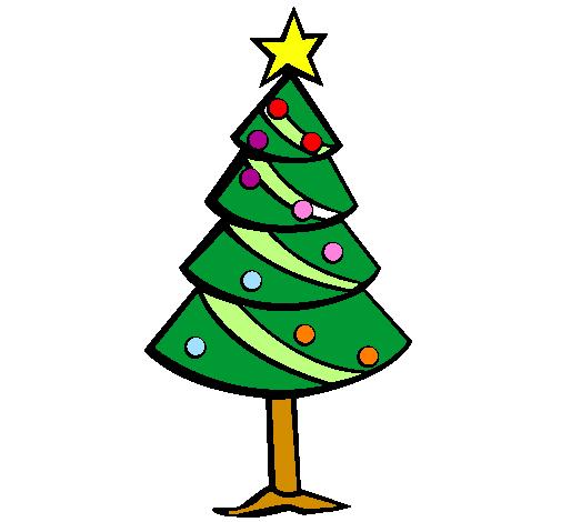 Desenhos Colorido De árvore De Natal