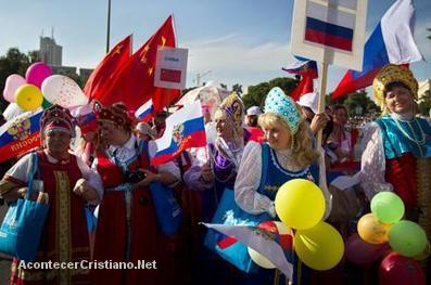 Marcha de cristianos en Jerusalén
