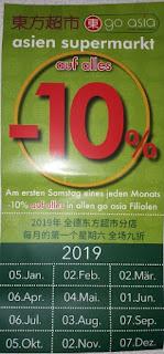 Go asia 10 % Rabatt