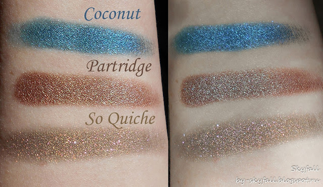 Colourpop So Quiche, Partridge, Coconut, swatches