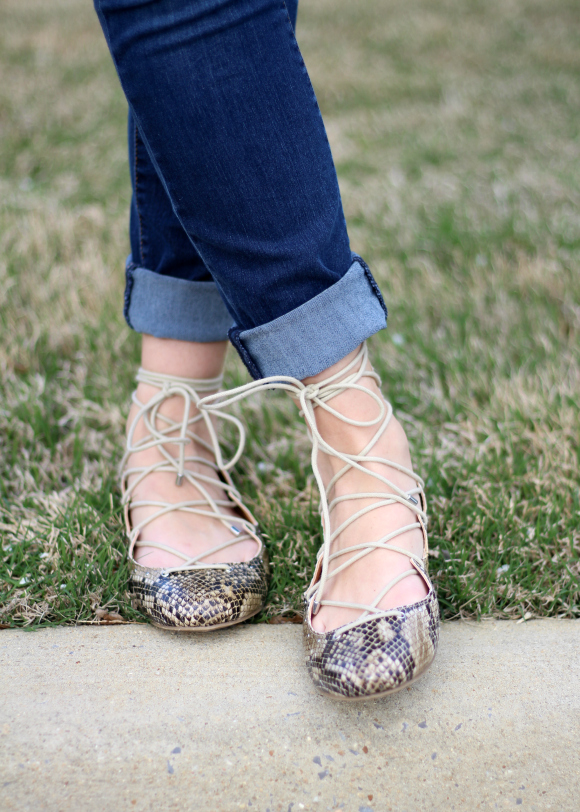 Stitch Fix March Mia Bryce Lace Up Flats