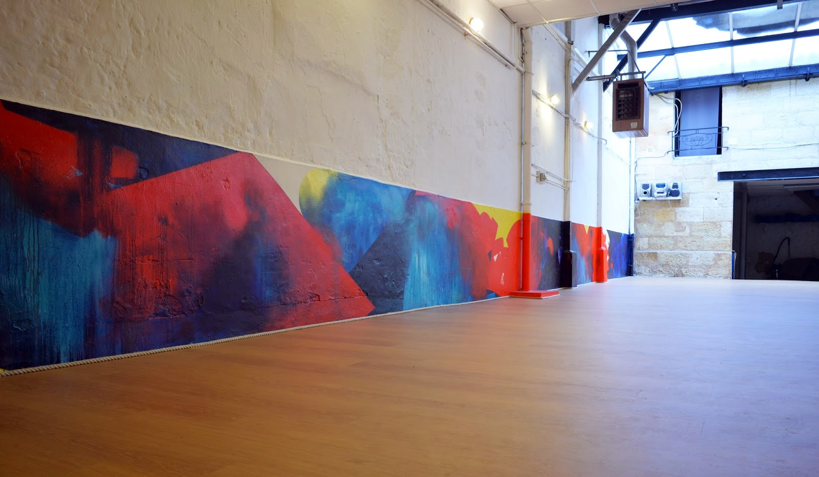 jbb fresque peinture abstraction danse crossfit