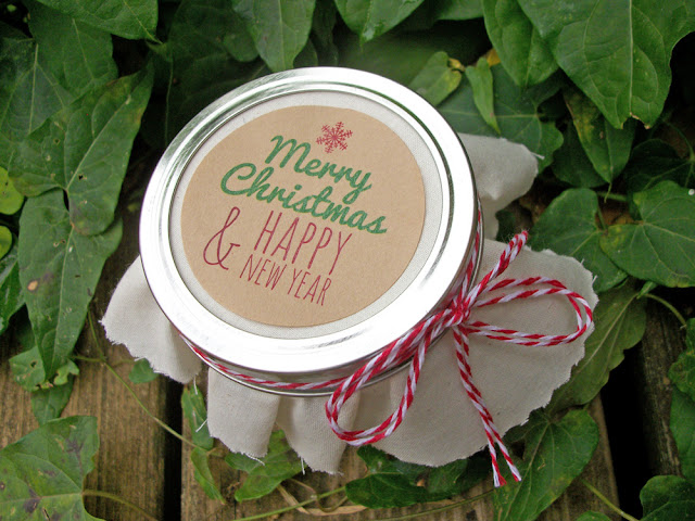 Merry Christmas Happy New Years canning jar labels