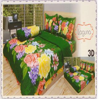 sprei 3d lady rose Laguna