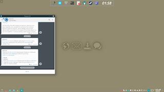 KDE Plasma Flat Activities Wallpaper 1 Connect