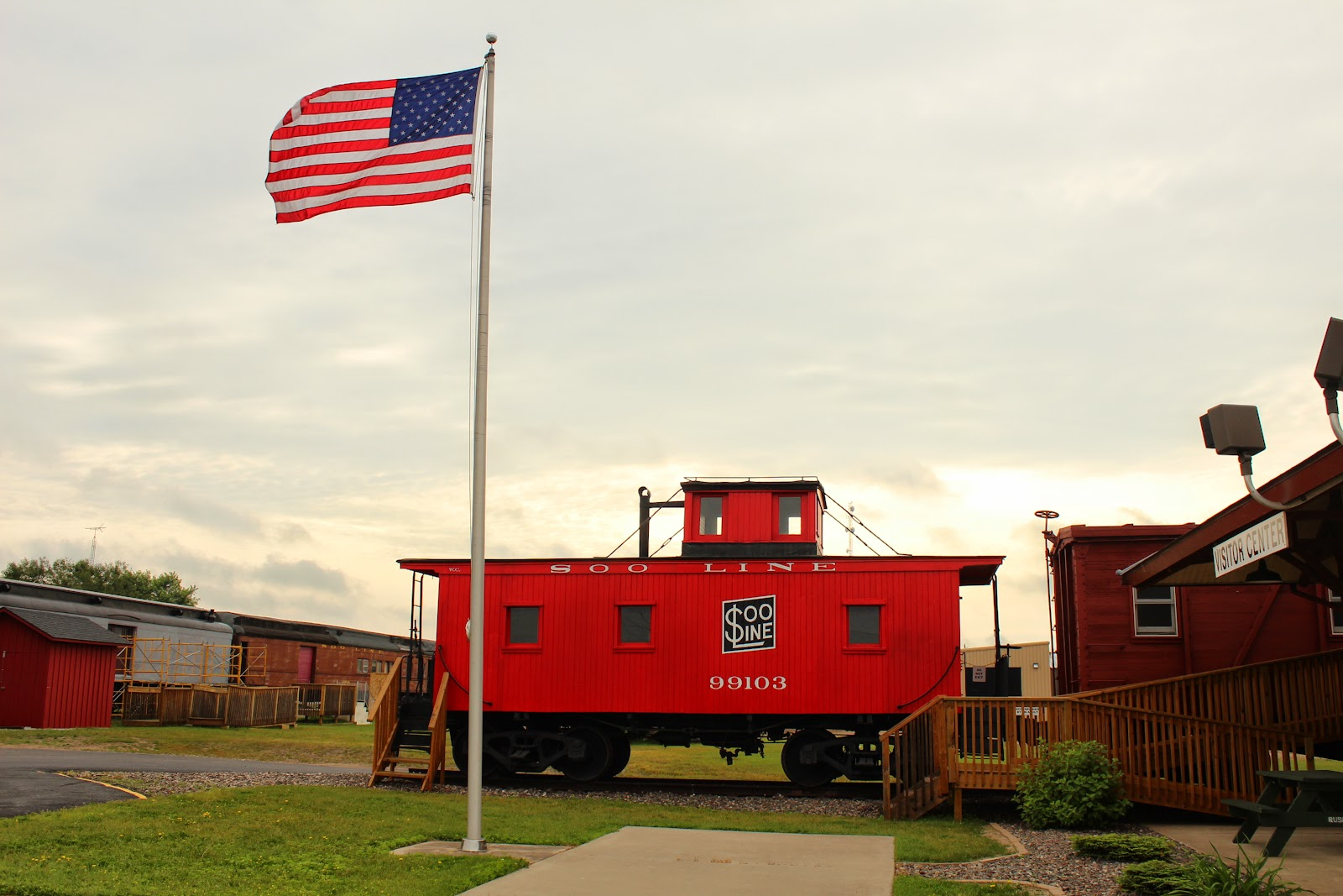 Wisconsin Historical Markers Soo Line Caboose No 99103