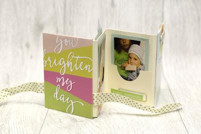 Minibook mit Babyfotos