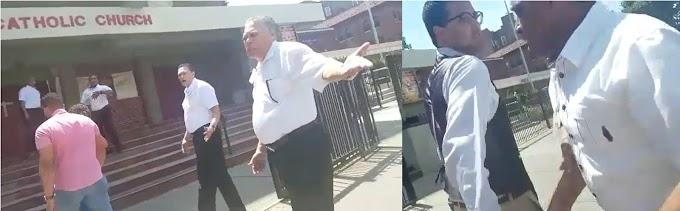 Guardias de iglesia católica dirigida por cura dominicano impiden campaña a aspirante  a concejal  en El Bronx