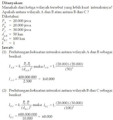 Perhitungan Teori Interaksi gravitasi