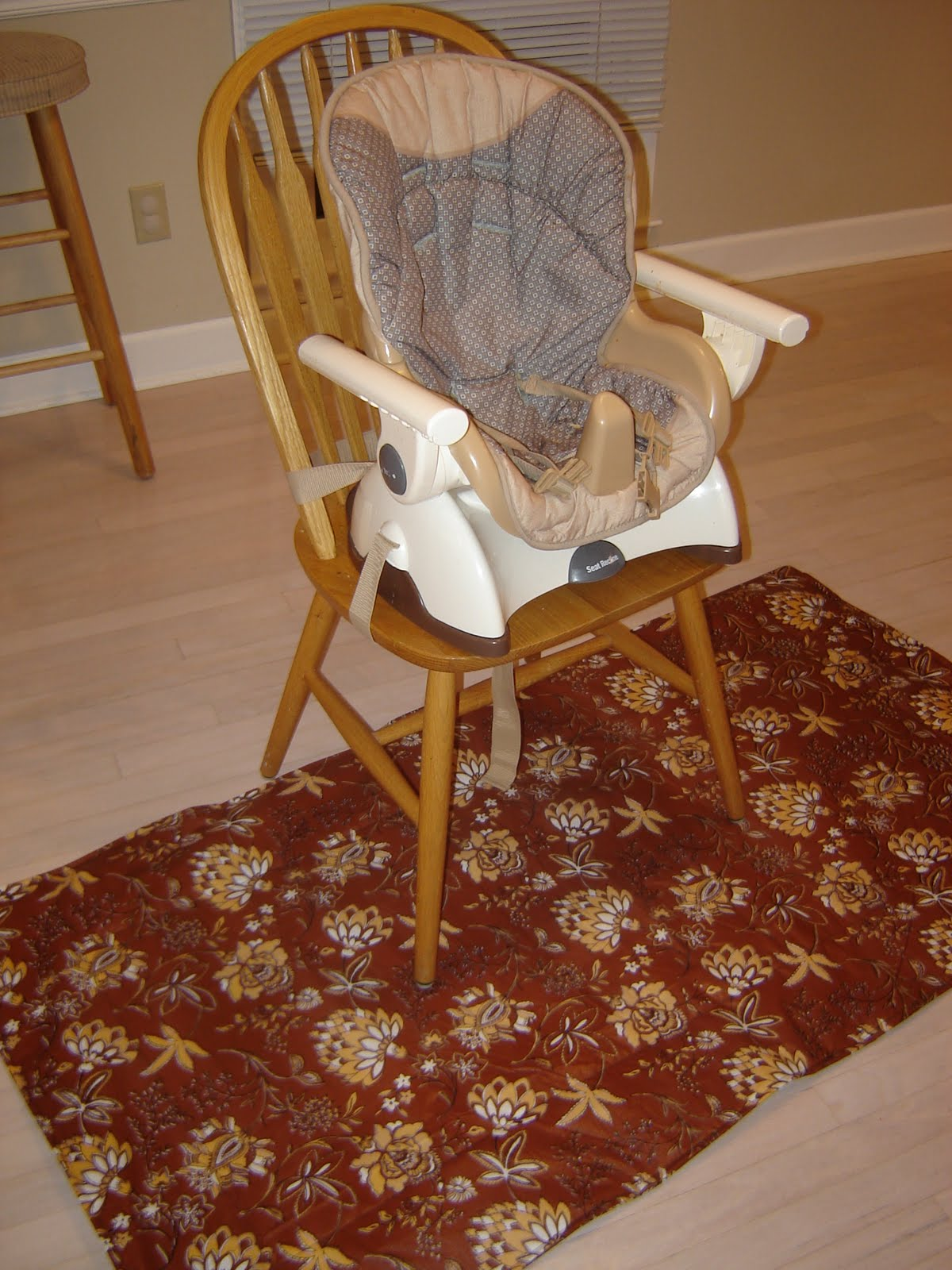 High Chair Splat Mat Eames Wire Seat Pad The Pretty Life Quick Fix