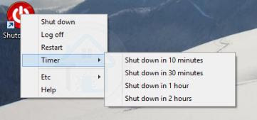 ايقاف تشغيل الكمبيوتر بعد وقت معين
