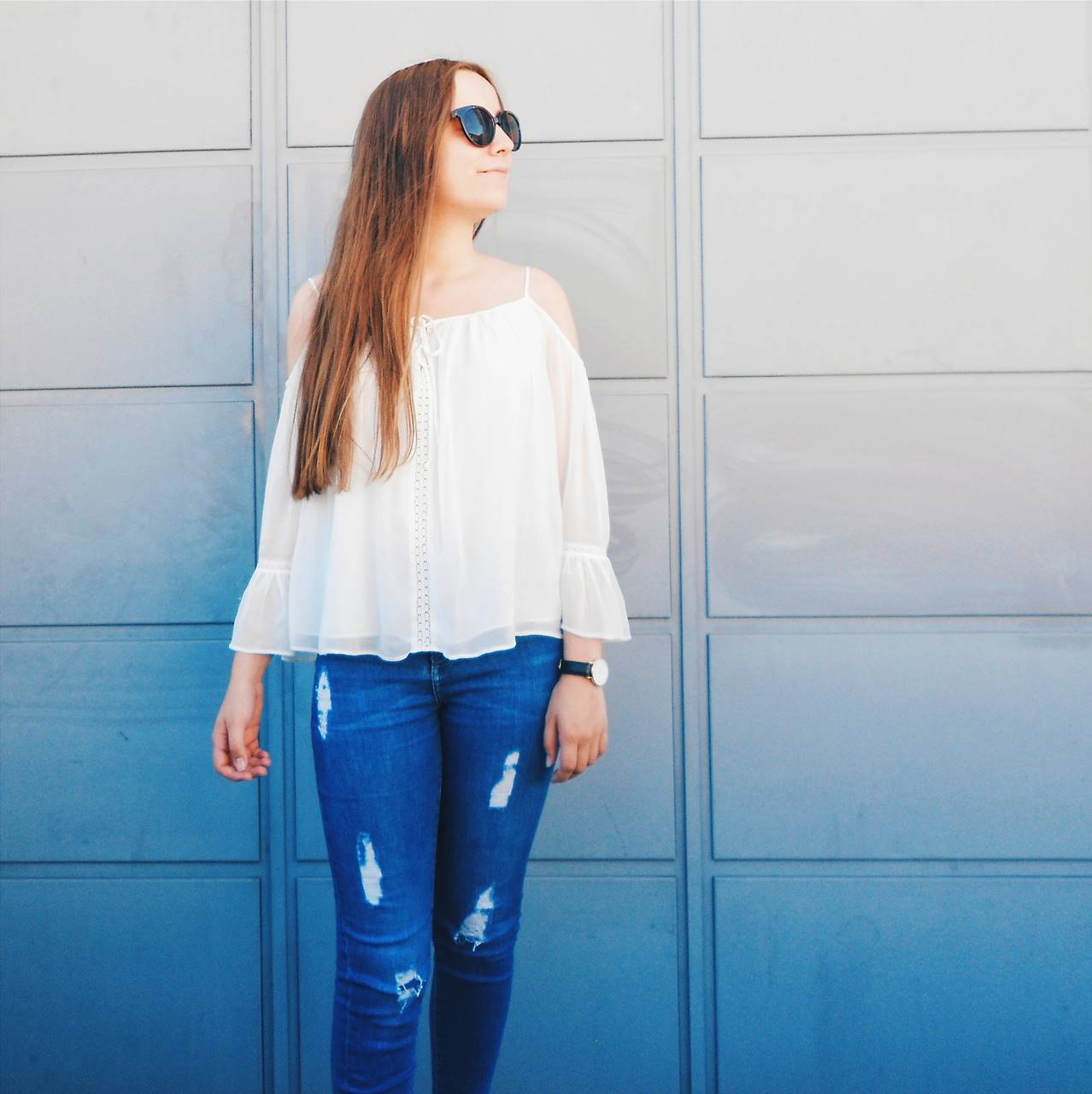 Outfit | Blue Jeans, White Shirt
