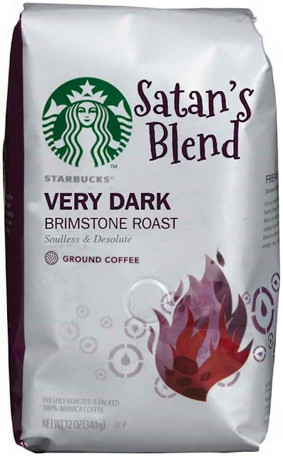 Funny Starbucks Satan's Blend Coffee picture