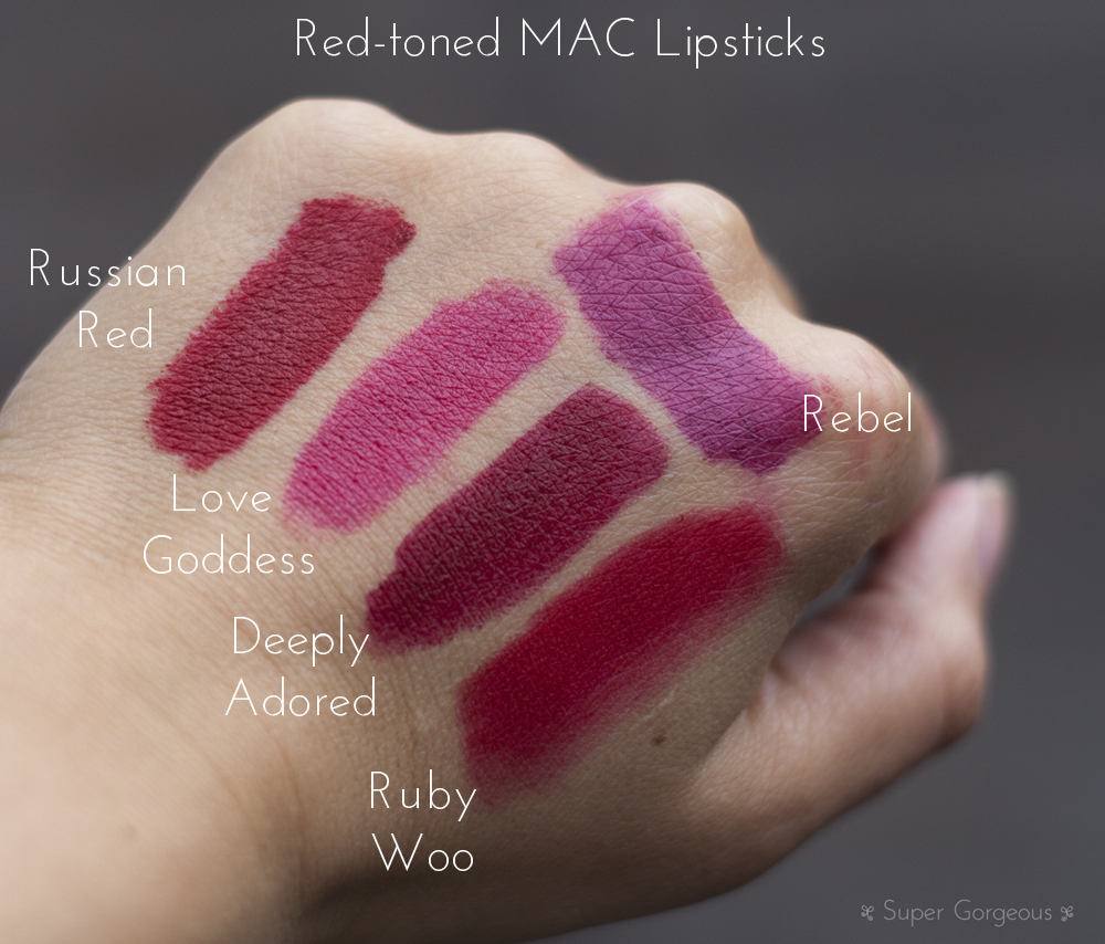 Red Mac Lipstick Swatches Pink