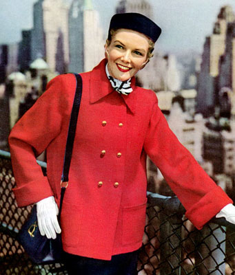 The Vintage Pattern Files : Free 1950's Knitting Pattern - Sight Seeing Coat
