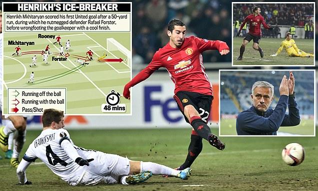 Manchester United  2 - 0 Zorya Luhansk