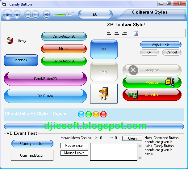 Candy Button OCX For VB6 Full Source Project | Download Game