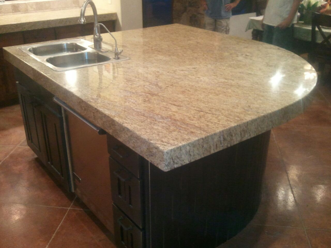 Stone Solutions Granite Overlay Over Existing Tops