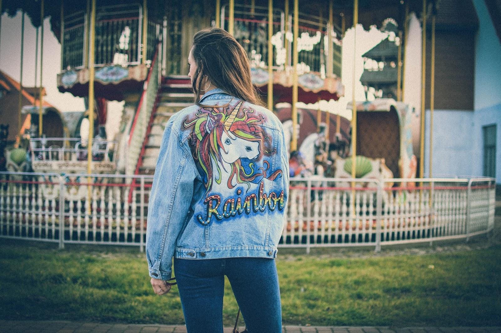 handmade unicorn jacket