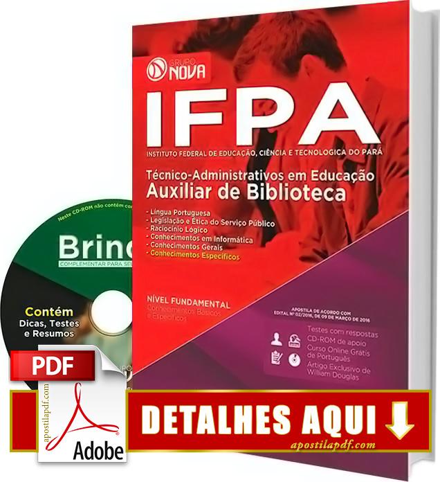 Apostila IFPA 2016 Auxiliar de Biblioteca Impressa