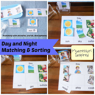 DIY Bedtime Box With Day and Night Matching and Sorting
