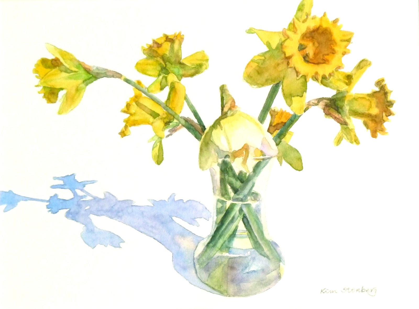 "Kim Stenberg's Painting Journal: ""First Daffodils ..."