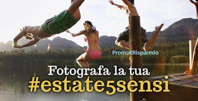 Logo Fotografa la tua #Estate5sensi e vinci buoni Groupon da 100, 200 e 500 euro