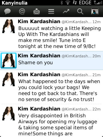 Tweet Of The Day: Kim Kardashian Takes On British Airways For Stealing Her Personal Effects 2