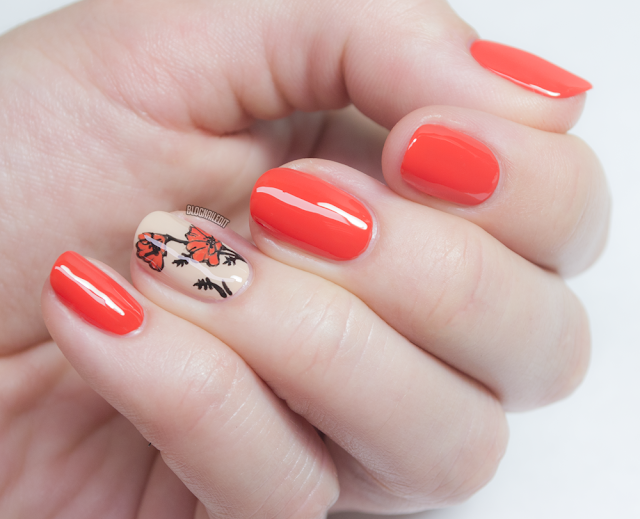 A Poppy of Color by Nailed It @ www.blognailedit.co