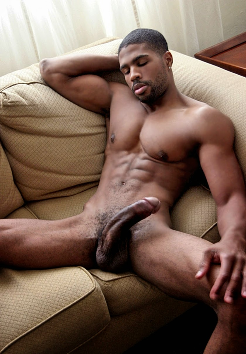 black sexy male model naked