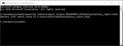 Cara cek baterai laptop samsung, asus, acer, toshiba, hp, lenovo dengan cmd
