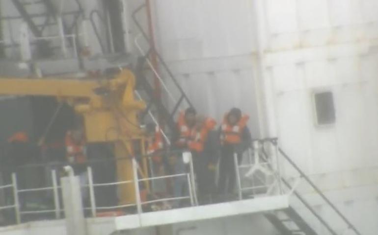 Şile'de Şiddetli Fırtına ! Kargo Gemisi Karaya Oturdu
